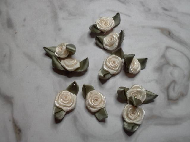 White Fabric Flowers*