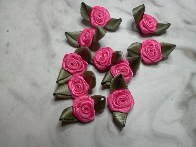 Pink Fabric Flowers*
