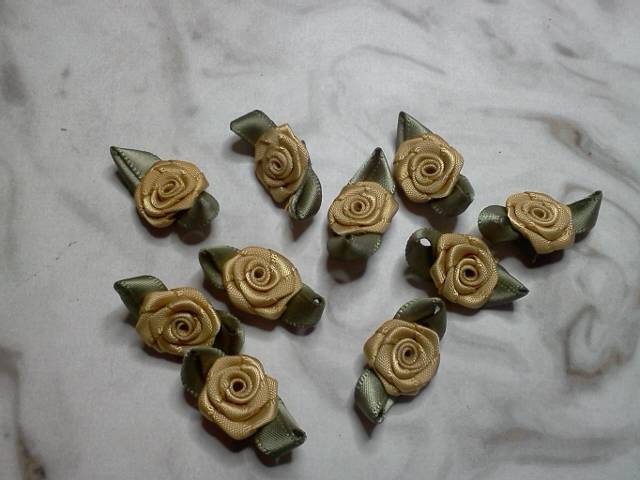 Gold Fabric Flowers*