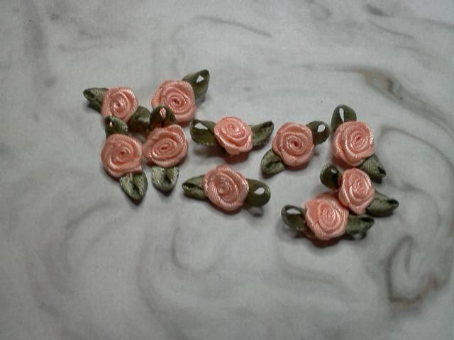 Peach Fabric Flowers*