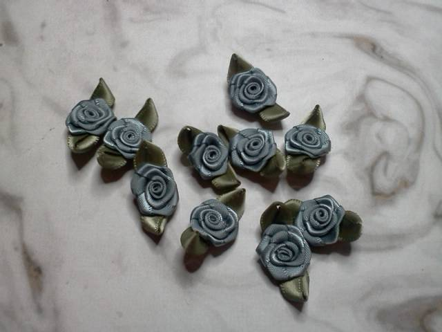 Grey Fabric Flowers*