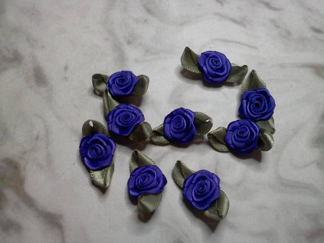 Purple Fabric Flowers*