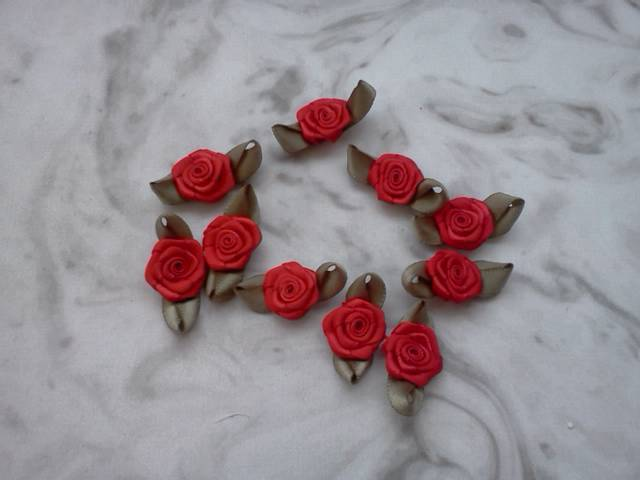 Red Fabric Flowers*