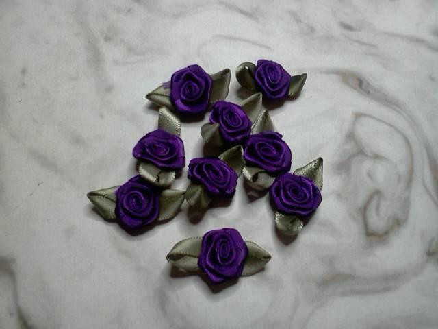 Purple Fabric Flowers*