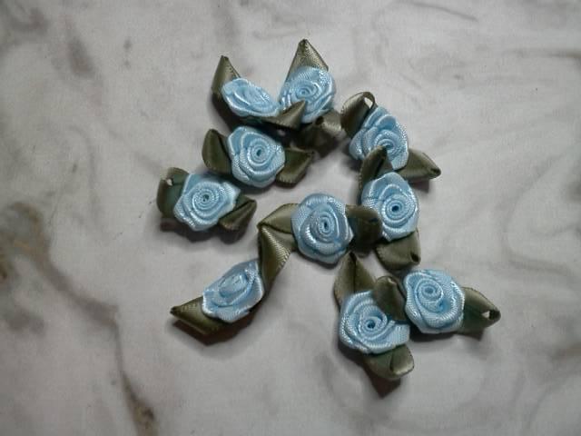 Blue Fabric Flowers*