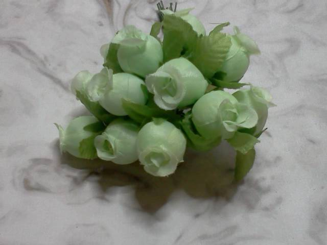 Green Fabric Roses*