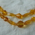 vintage double strand faceted topaz crystal beads necklace