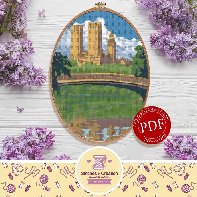 Central Park | Digital Download | Cross Stitch Pattern |