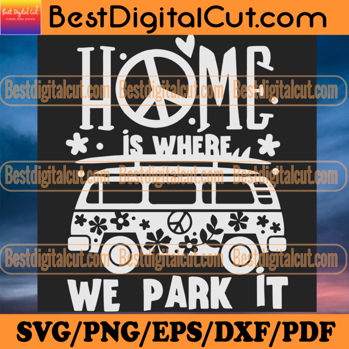 Home Is Where We Park It Svg, Trending Svg, Camper Car Svg, Home Is Where We