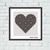 Vintage ornament heart cross stitch pattern, Tango Stitch