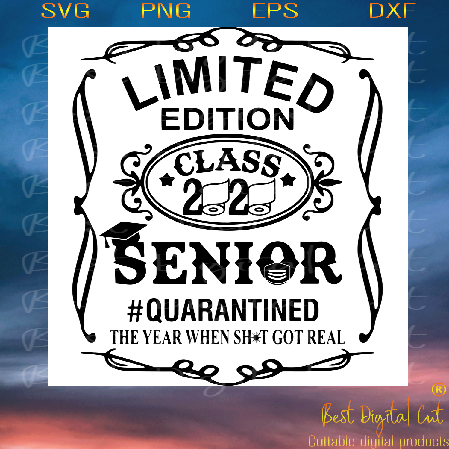 Limited Edition 2020 Senior, Trending Svg, Quarantined Svg, Senior Svg, Senior
