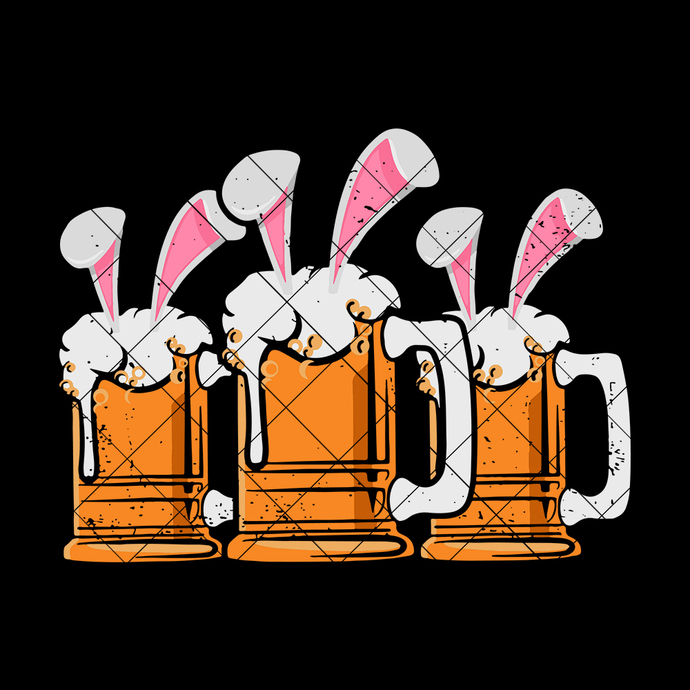 Bunny Beer Drinking Easter Day SVG, Easter Day SVG, Easter SVG, Bunny Beer SVG,