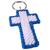 Blue White Christian Cross Key Ring set