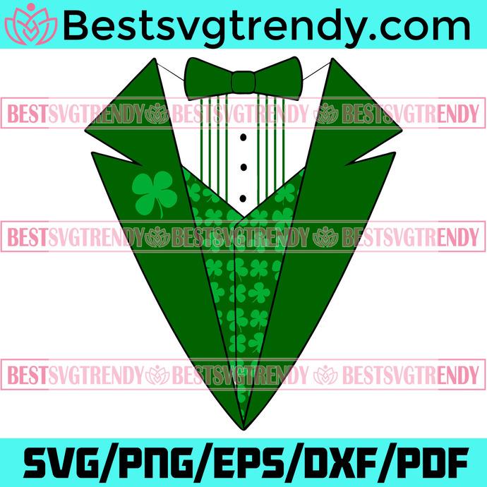 Leprechaun Irish Tuxedo Svg, Patrick Svg, Leprechaun Svg, Leprechaun Suit Svg,