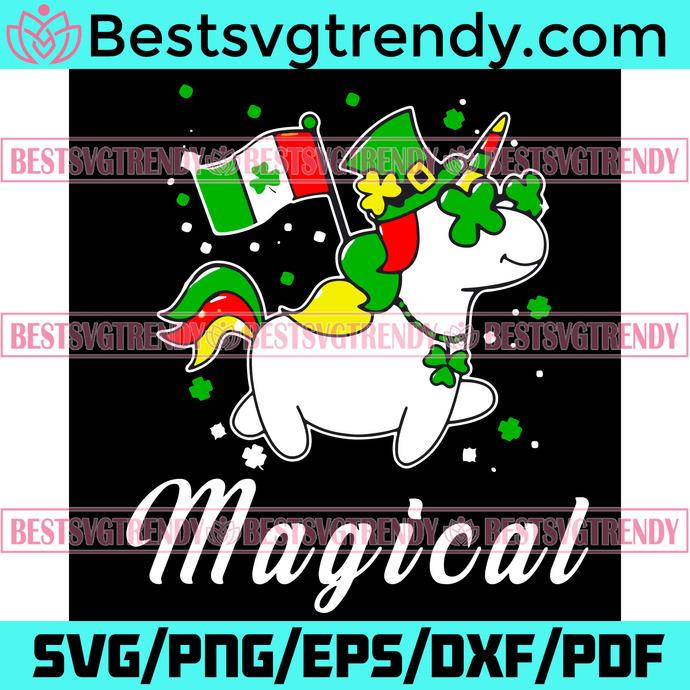 St Patricks Day Unicorn Magical Svg, Patrick Svg, Unicorn Svg, Magical Unicorn