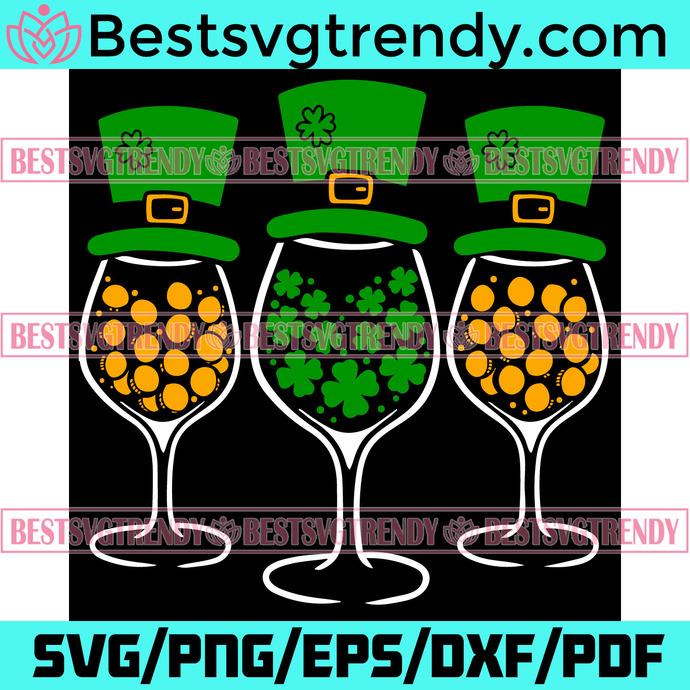 Irish Wine Lover St Patricks Day Clover Holiday Svg, Patrick Svg, Irish Wine