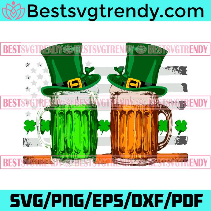 Beer Flag Shamrock St Patricks Day Beer Irish Svg, Patrick Svg, Patrick Beer