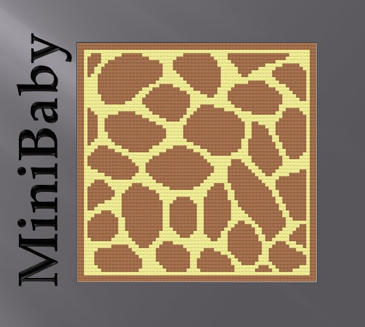 Giraffe skin / hide Baby MiniC2C, Graph + written line by line color coded