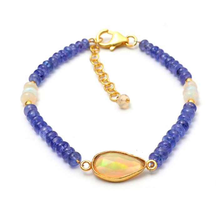 Ethiopian Opal Bracelet,Opal Bracelet,Opal Beads Bracelet,Opal Bezel