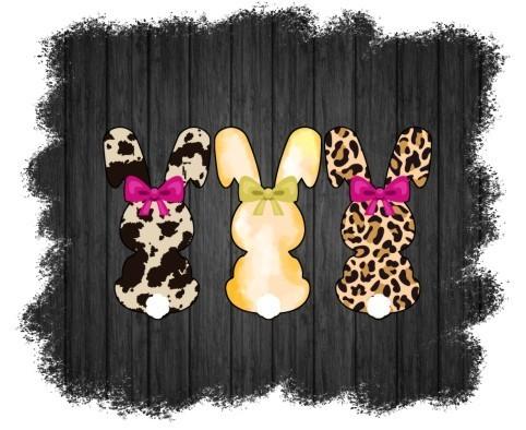 Easter Bunnies, Cow print bunny, Cheetah Print bunny, Hanging with my peeps,