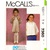 McCall's 7360 Girls Easy Dress, Top 80s Vintage Sewing Pattern Toddler Size 1