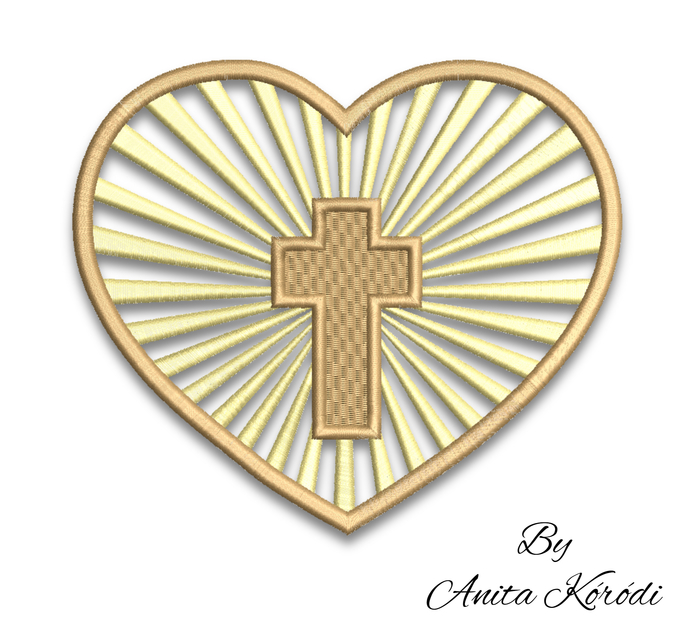 Machine embroidery designcross church pes instant digital file