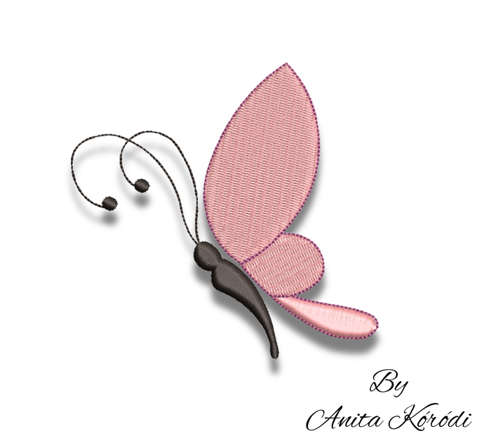 Mini butterfly embroidery machine designs pes pattern instant digital download