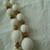 vintage crown Trifari signed white beads double strand necklace