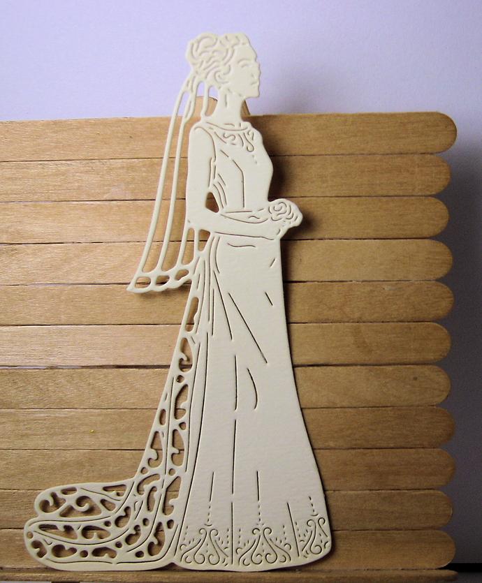 Bride cutting die is 5 inches tall Wedding