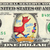 Fox in Socks on a REAL Dollar Bill Cash Money Collectible Memorabilia Dr Seuss
