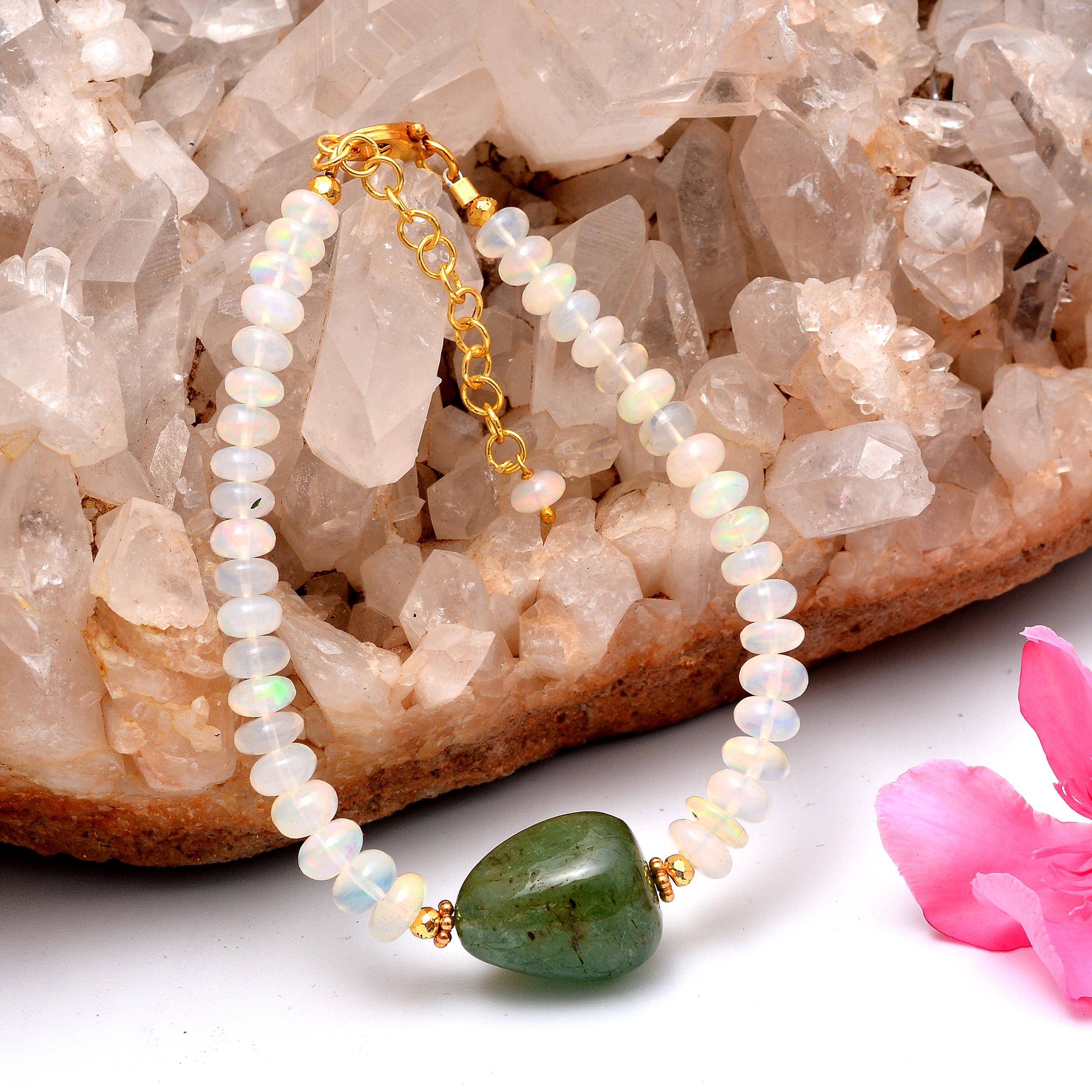Ethiopian Opal Bracelet,Opal Beads Bracelet,Silver Bracelet,Statement