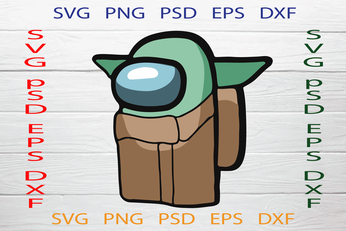 Among Us SVG, Among Yoda Svg, Baby Yoda Among Svg, Mandalorian Svg, Star Wars