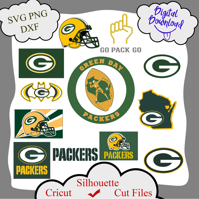 Green bay Packers bundle logo sport svg, Green bay Packers bundle svg, Green bay