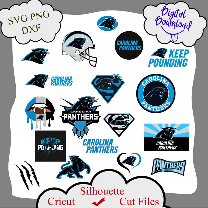 Carolina Panthers bundle logo sport svg, Carolina Panthers bundle svg, Carolina