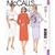 McCall's 8393 Misses Dress, Jacket 80s Vintage Sewing Pattern Half Size 16 1/2