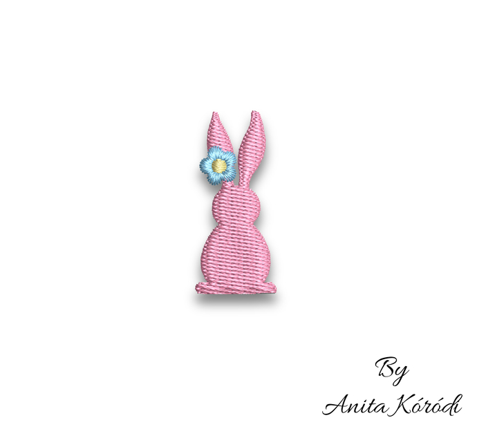 Mini bunny embroidery machine designs pes easter pattern instant digital