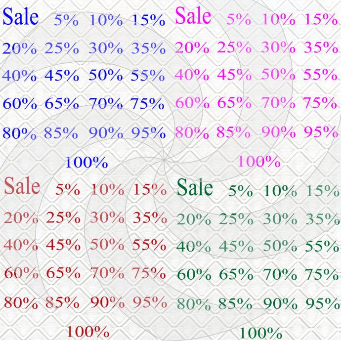 Sale 7S-Font-Digital ClipArt-PNG-Gift Tag-T
