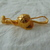 vintage Maeve Carr New York matte gold equestrian pin signed RIDING CROP CAP