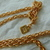 Anne Klein signed two tone clear crystals moon star pendant necklace NOS