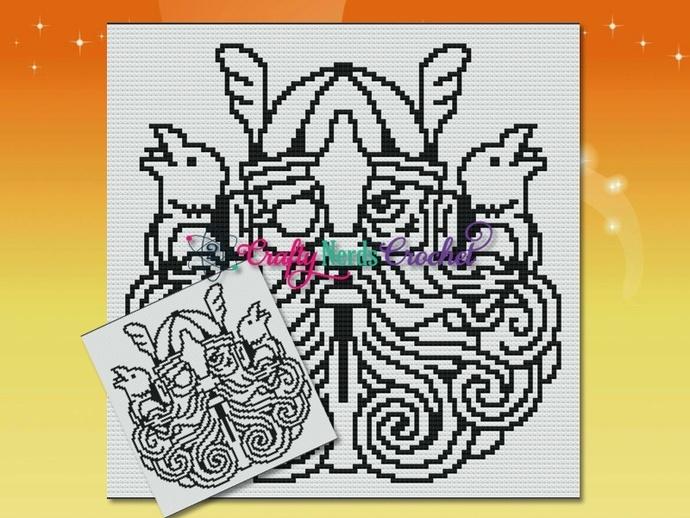 Odin, Huginn, And Muninn Pattern Graph With Mini C2C Written