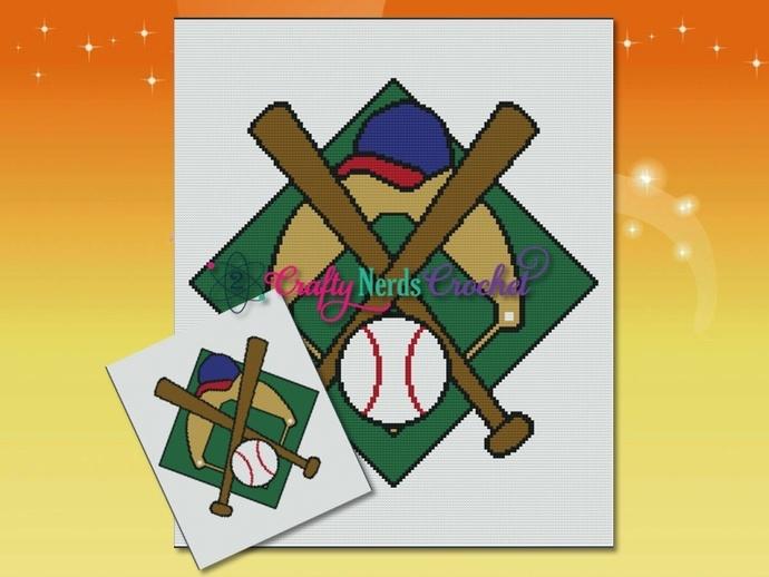 Baseball Diamond Pattern Graph With Single Crochet Written