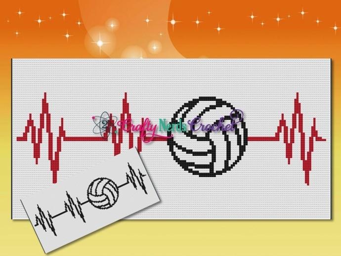 Volleyball EKG Pattern Graph With Mini C2C Written