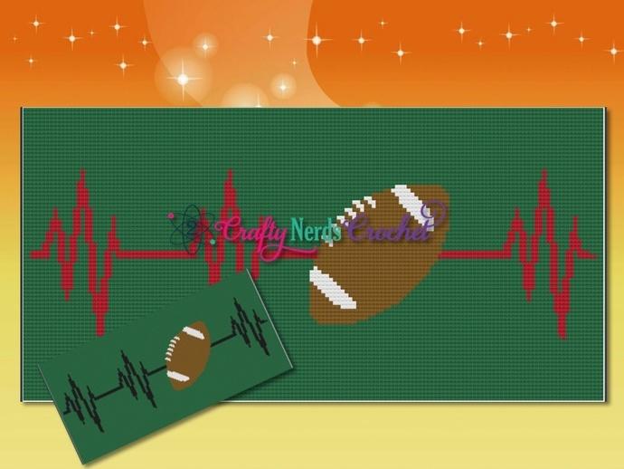 Football EKG Pattern Graph With Mini C2C Written