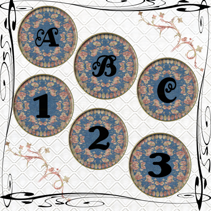 ABC and Numbers 70a-Digital ClipArt-Flower-Frame-Fonts-Art Clip-Gift