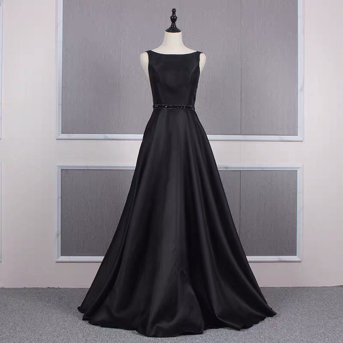 Pretty Prom Dress,A-Line Prom Gown,V-Neck Evening Dress,Satin Prom Gown 045