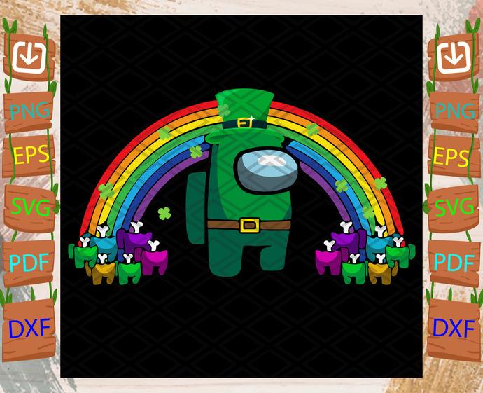 Among Us St Patrrick Day Svg, Trending Svg, St Patrick Day Svg, St Patrick Svg,