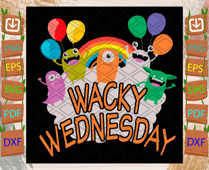 Wacky Wenesday Svg, Trending Svg, Wacky Wenesday Svg, Funny Svg, Carton Svg,