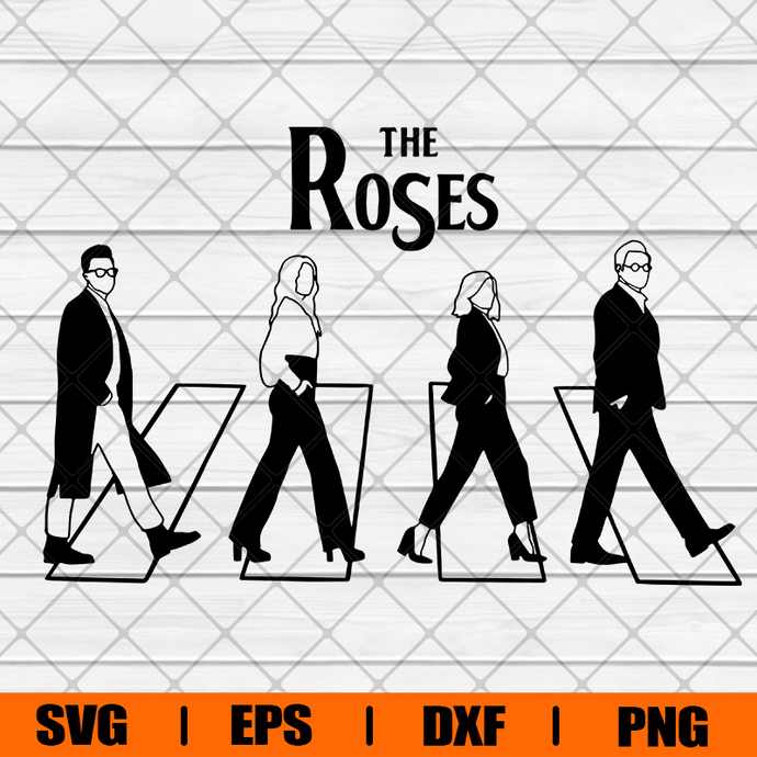 The Roses Abbey road Schitts Creek Svg , Svg, Eps, Png, Dxf