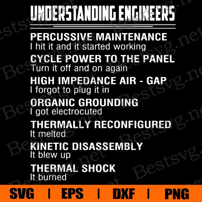Understanding Enginneers Svg, Svg, Eps, Png, Dxf