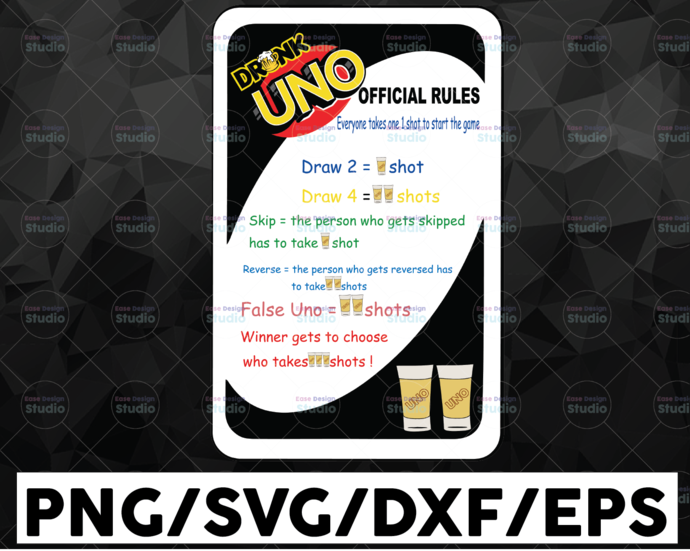 Drunk Card /Drink Card / Drunk Game / SVG / PNG / DXF